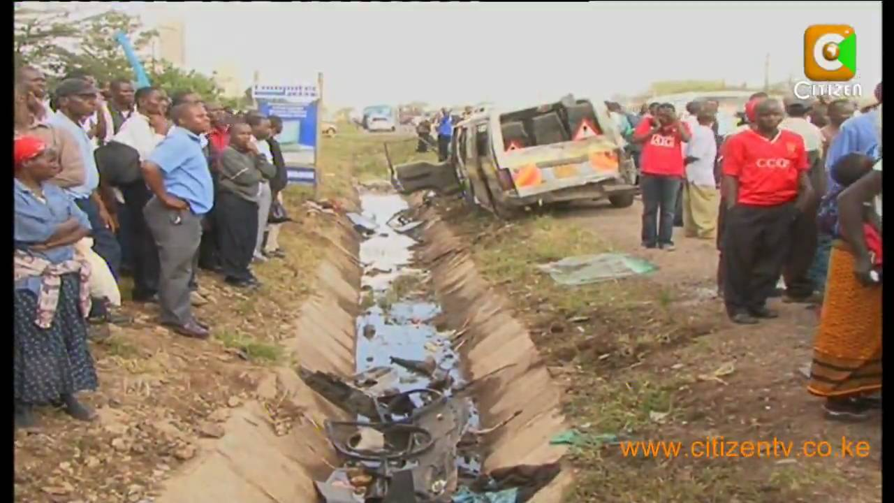 Kenya Road Sign >> 8 Die in Machakos Road Accident - YouTube