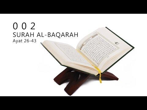 002 : SURAH AL-BAQARAH : AYAT 26-43