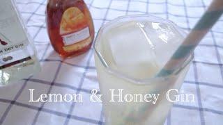 Lemon & Honey Gin - Easy Summer Drink | Reahasnoidea