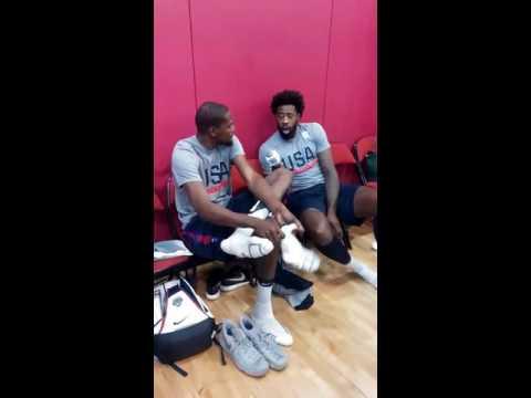 Snap Sights & Sounds Team USA Basketball Day 4 Vegas: Klay, Durant, Draymond, Pat McCaw, Mullin