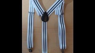 Розпакування посилки # 29 Aliexpress Mens Suspenders № 2.
