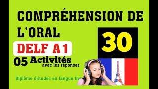 DELF A1 - Compréhension de l'oral (no 30) Listening Comprehension Online Practice
