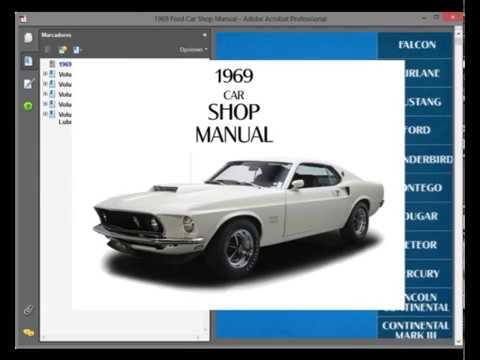 ford mustang 1969  service manual  wiring diagram