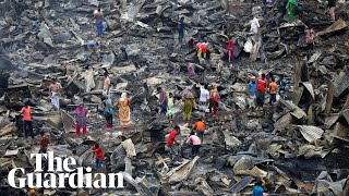 Bangladesh Fire Leaves Thousands Homeless After Blaze Destroys Slum
