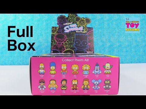 Kidrobot X The Simpsons Enamel Pin Series Opening Review   PSToyReviews