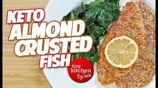 Keto Almond-Crusted Fish // Tiny Kitchen Big Taste :: Keto Month