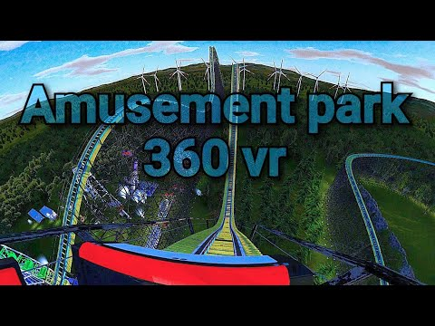 Amusement park rides in 360° vr  💀 Skull Mountain Amusement park |
