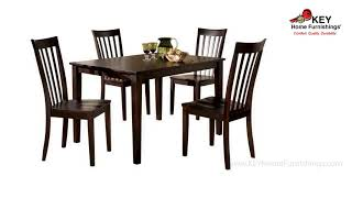 Ashley Hyland Dining Room Table And Chairs Set Of 5 D258 225