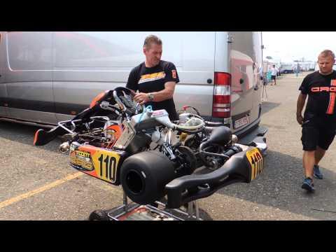 Jos Verstappen test Max's kart - WSK 7 Laghi 13-07-13