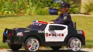 Sidewalk Cops | Kid Trax Police Dodge Charger Review | Kids Videos | Police kIds