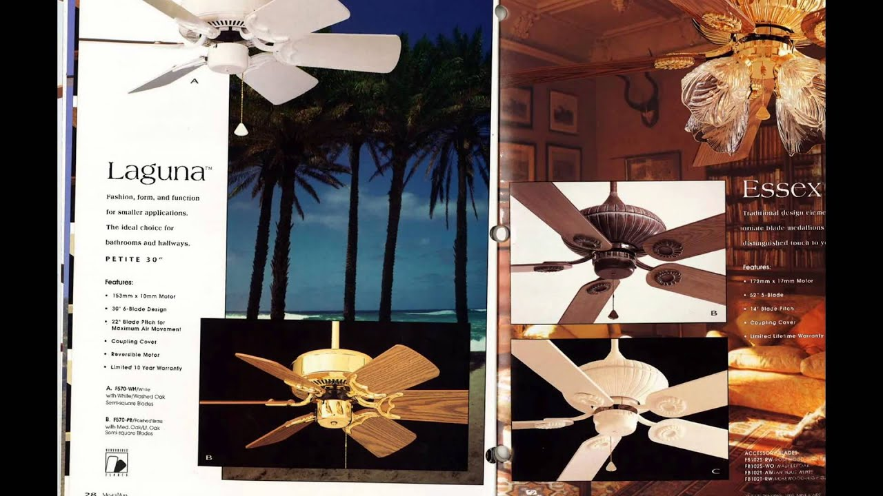 Minka Aire Ceiling Fan Catalog From 1996 Youtube