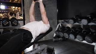 Incline Dumbbell Straight Arm Pull over