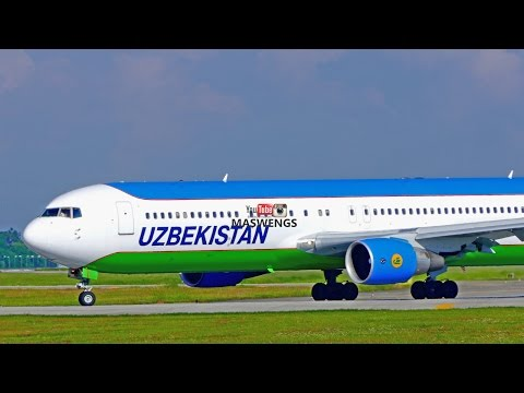 4K ATC Uzbekistan Airways Boeing 767-3CB(ER) B767 UK67007 Takeoff KLIA KUL WMKK