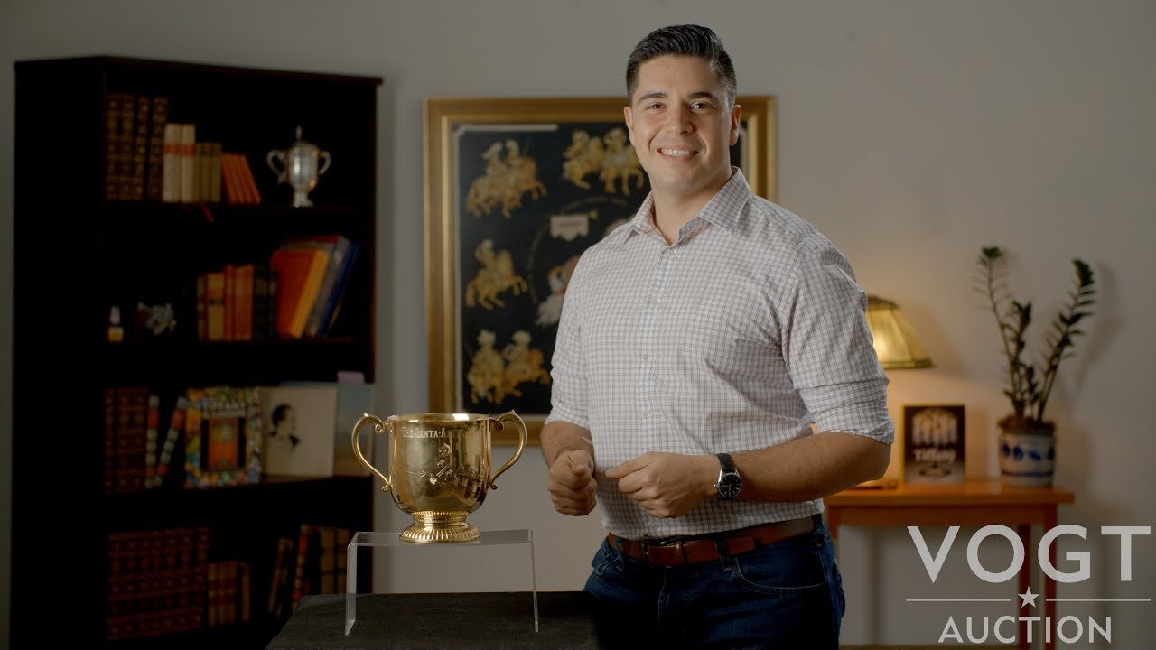 Solid Gold Horseracing Trophy At Vogt Auction