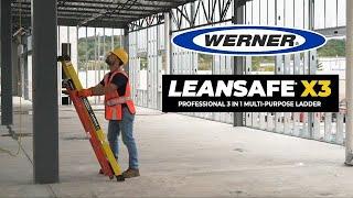 Werner Ladder - LEANSAFE® X3 Professional 3 IN 1 Multi-Purpose Ladder