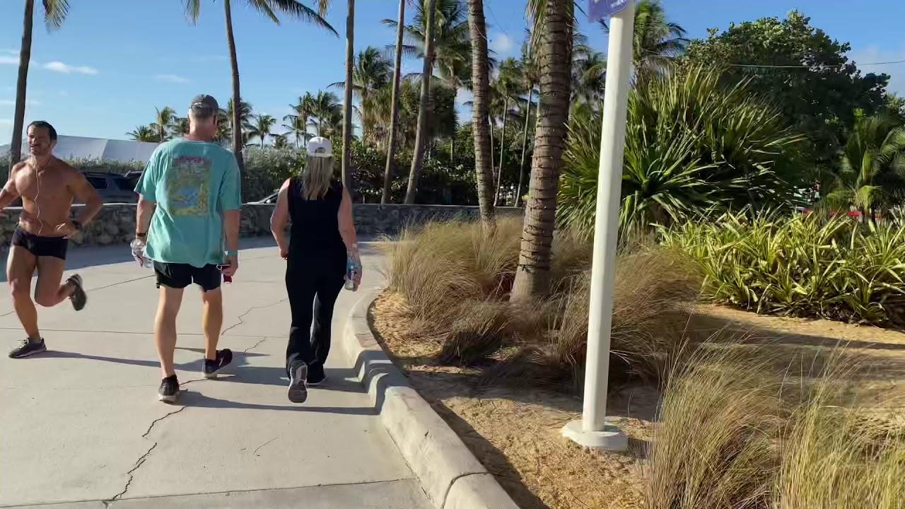 Miami Walk 4K • Ocean Drive South Beach 🏝 (2021)