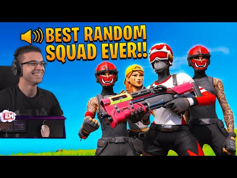 Nick Eh 30's FIRST TIME Playing Random SQUADS In Fortnite...