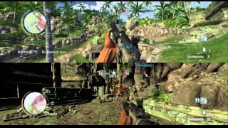 Far Cry 3 Splitscreen Team Deathmatch with Cory and Trevor