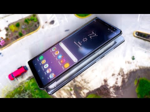 Can Two Note 8's Protect iPhone 8 from 100 FT Drop Test?