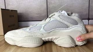 76a0cd4e96010 Adidas Yeezy 500 blush Unboxing+Review ...