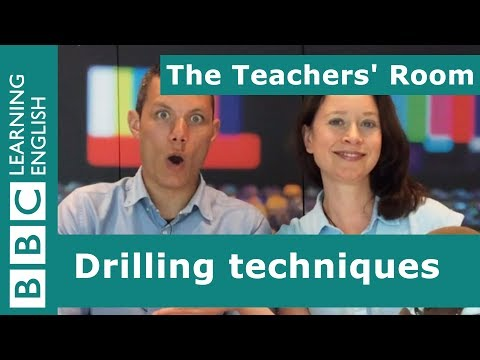 The Teachers' Room: Drilling techniques