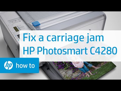 fixing a carriage jam hp photosmart c4280 all in one printer youtube rh youtube com  hp photosmart c4200 manual