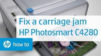 Fixing a Carriage Jam - HP Photosmart C4280 All-in-One Printer | HP Photosmart | HP