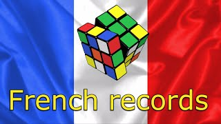 Rubik's cube French records single (records de France)
