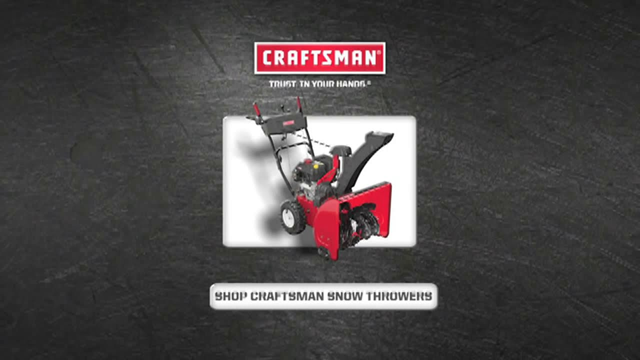 Craftsman Snow Thrower Checking Changing The Spark Plug Youtube