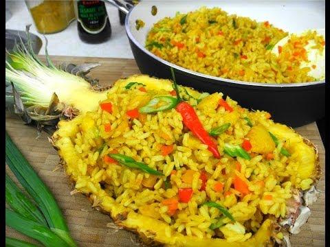 Festive Vegetarian Pineapple Rice.