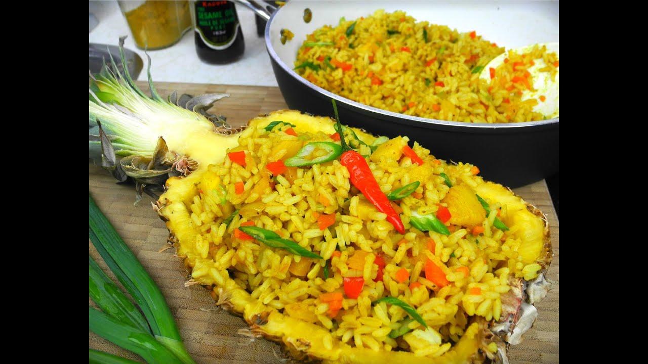 Festive vegetarian pineapple rice youtube ccuart Choice Image
