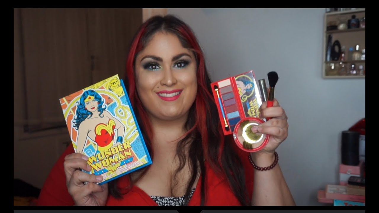 Walgreens Wonder Woman Makeup Collection Review Swatches - YouTube