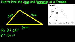 How to Find tнe Area and Perimeter of a Triangle