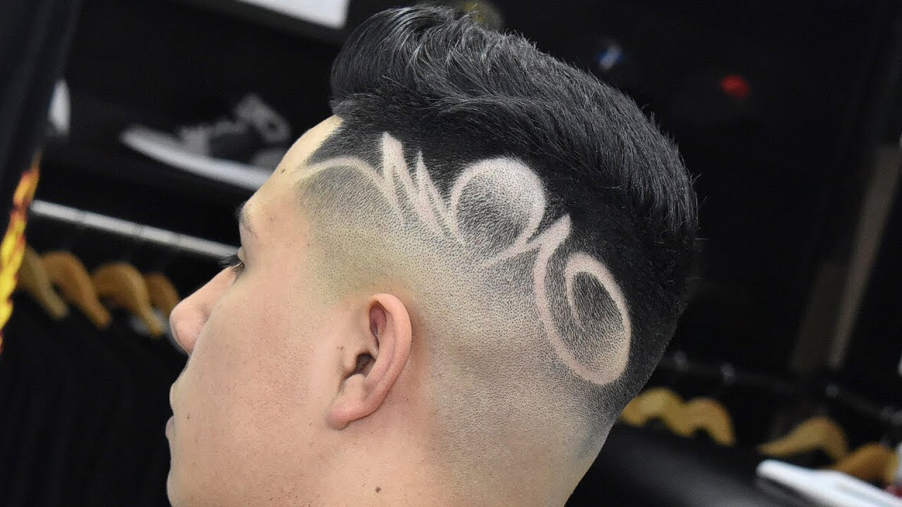 skin fade with freestyle design (best barbers in the world 2017)