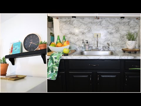 Small rental kitchen makeover / How to decorate a small kitchen