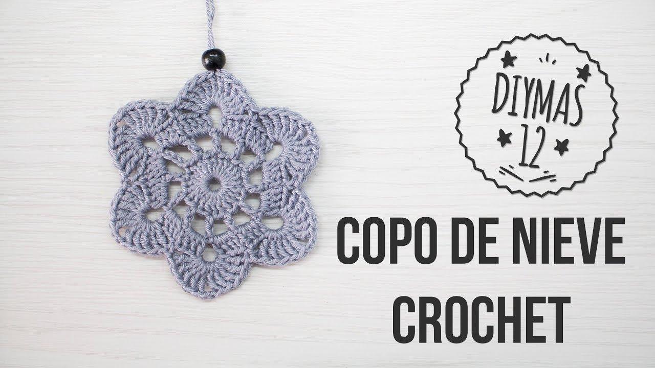 Adorno navideño para el árbol - Copo de crochet - YouTube
