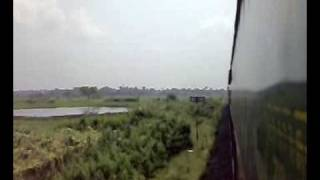Garib Rath Express arriving at Katwa Jn