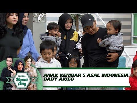 WOW!! Ini Loh Anak Kembar 5 Asal Indonesia BABY AIUEO - Rumah Mama Amy (29/8)