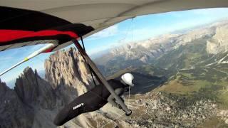 Hang gliding Italy Val di Fassa HD