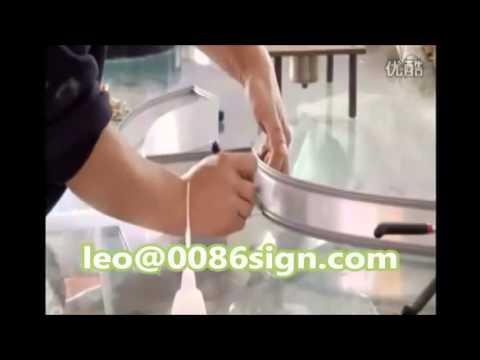 aluminum LED channel letter-handmade stainless channel sign- trim cap bender-LED logo make-light