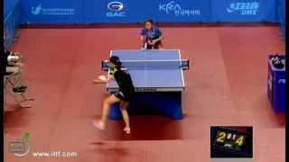 Korea open 2012 PARK Miyoung vs LI Jiawei