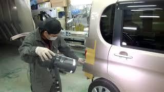 八王子市よりご来店 ダイハツ タント 板金・塗装・修理です。【板金塗装なら東京立川市のガレージローライド】 thumbnail