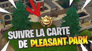 SUIVRE LA CARTE AU TRESOR de PLEASANT PARK ! FORTNITE BATTLE ROYALE