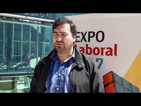 Santiago Pron en la Expo Laboral