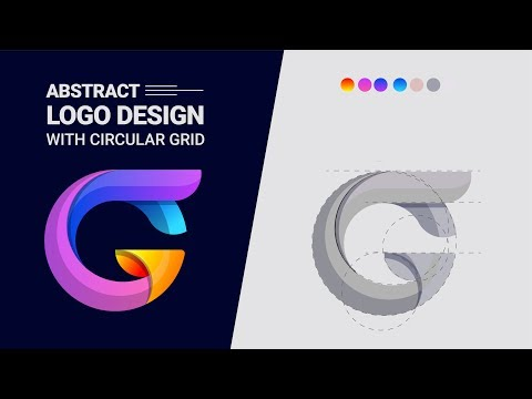 How to Create a logo with circular grid | Adobe Illustrator Tutorial 2019 thumbnail