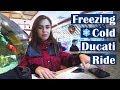 Freezing Ride & Almost Breaking my GoPro | Moto Vlog