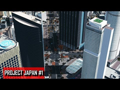Cities: Skylines - PROJECT JAPAN #1 - Large train station, business and commercial district
