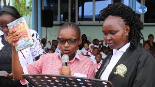 Mombasa Senior Resident Magistrate Viola Yator witnesses swearing-in ceremony at Nyali School