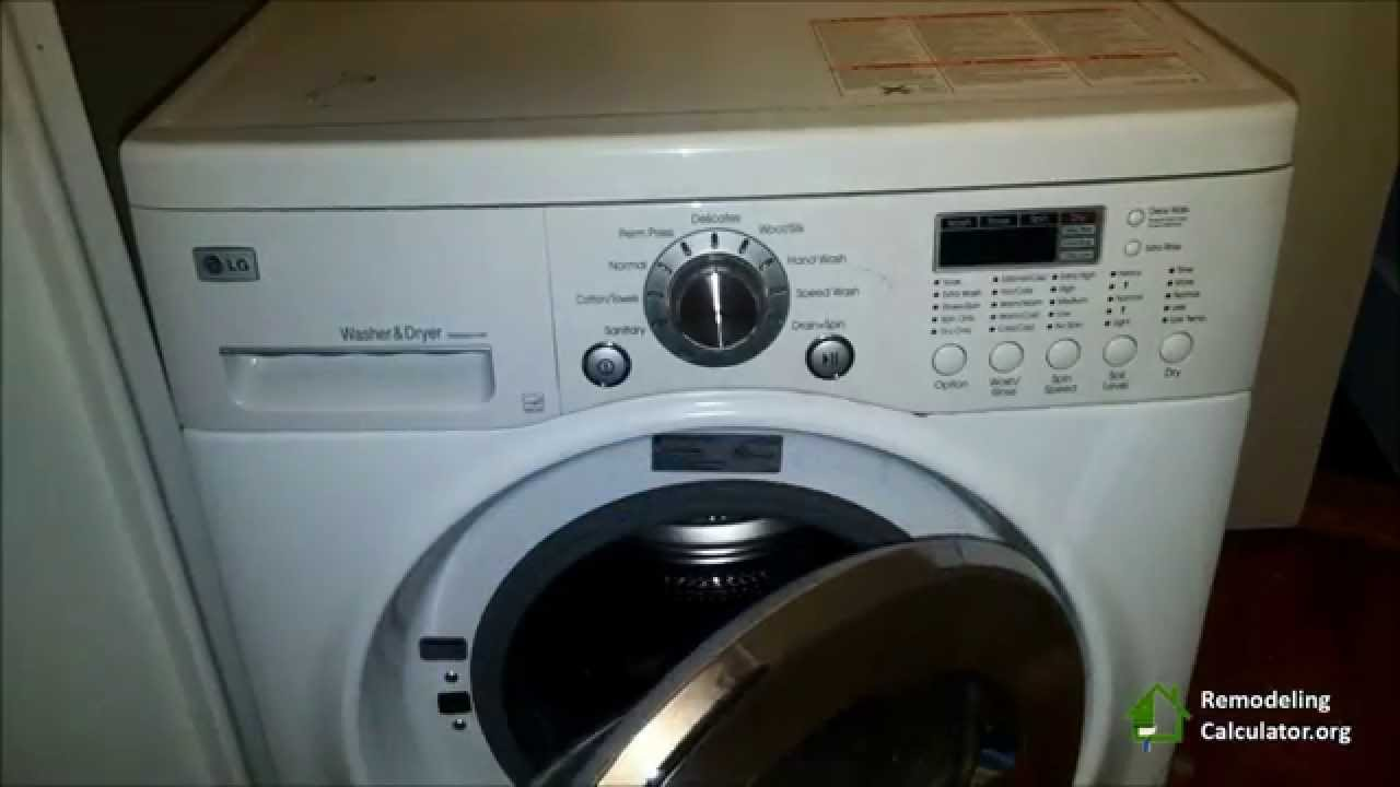 DIY LG Washer / Dryer COMBO Repair (Remove Lint) Part 1 - YouTube