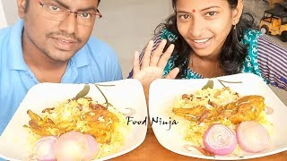 Chicken Biryani Eating Challenge || Indian Food Eating Show || Food Ninja